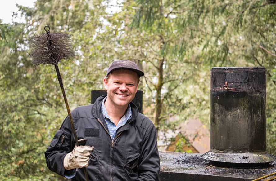 Smiling chimney sweep